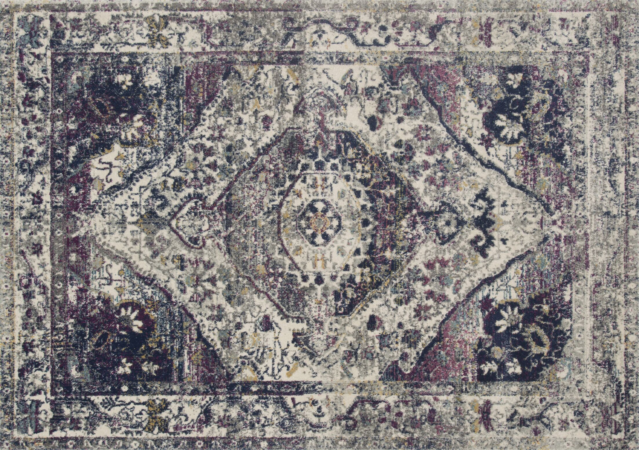 Palmore Berry Area Rug Rug Size: Rectangle 2'7