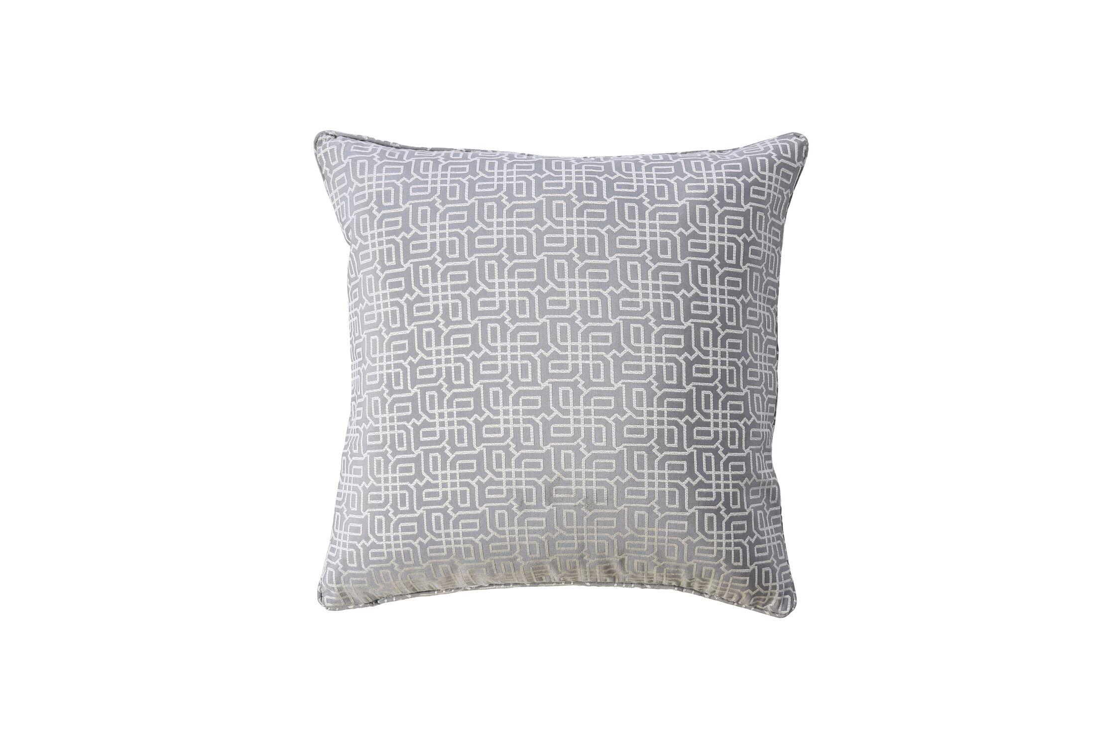 Demaio Indoor Throw Pillow Color: Gray