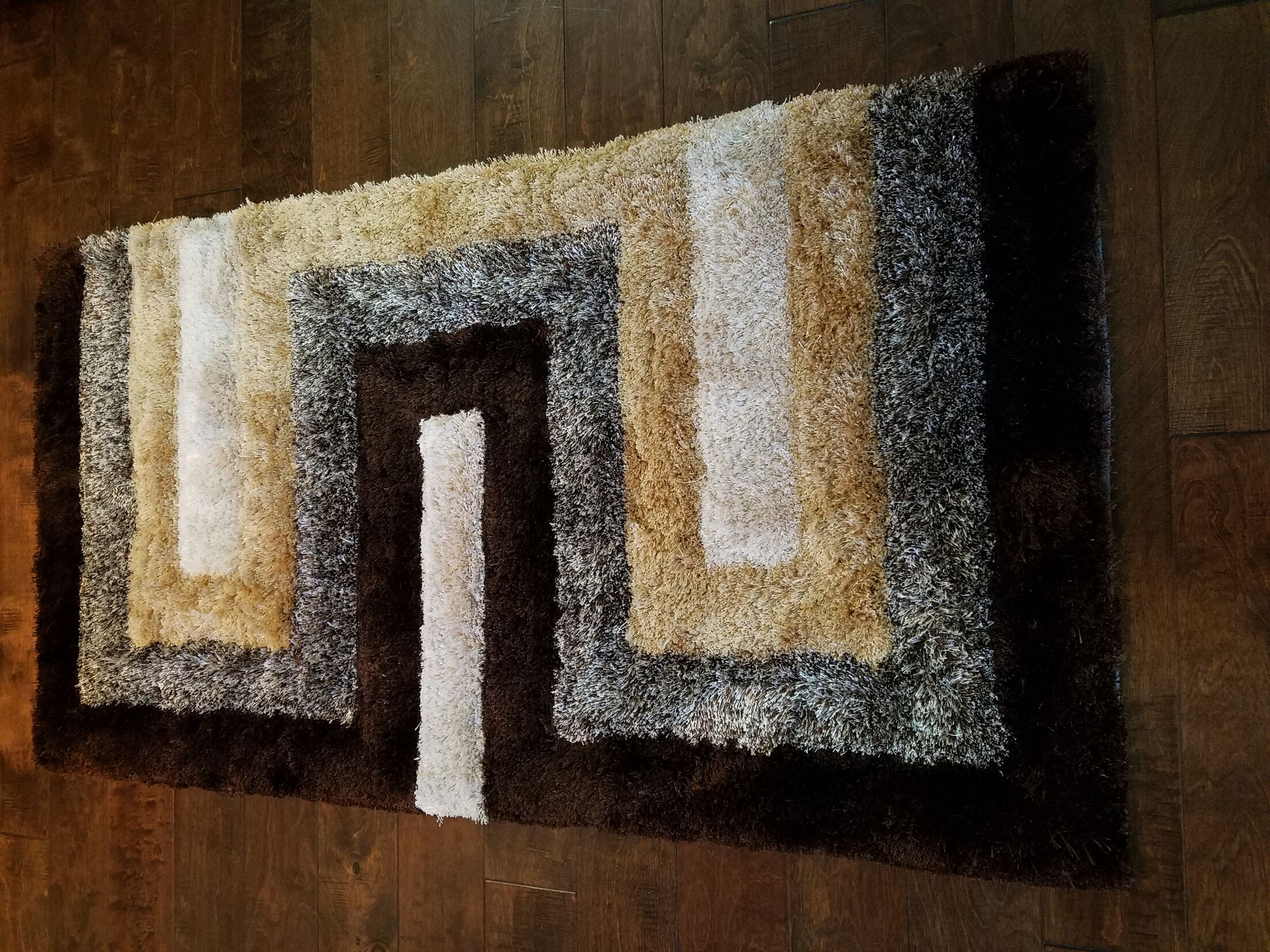 Letson Shaggy Hand-Knotted Beige/Gray Area Rug Size: Rectangle 3' x 5'