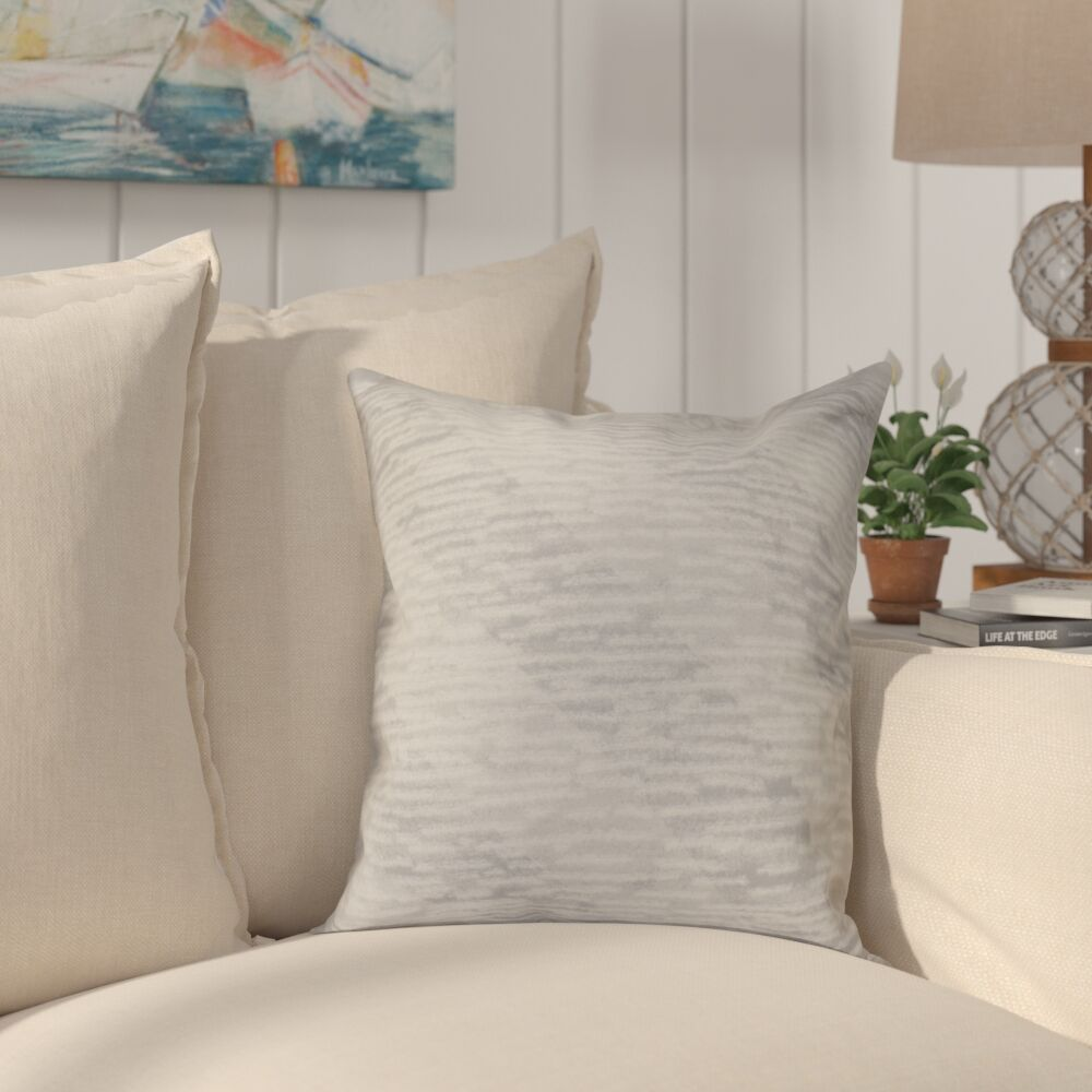 Cedarville Marled Knit Stripe Geometric Print Throw Pillow Size: 26