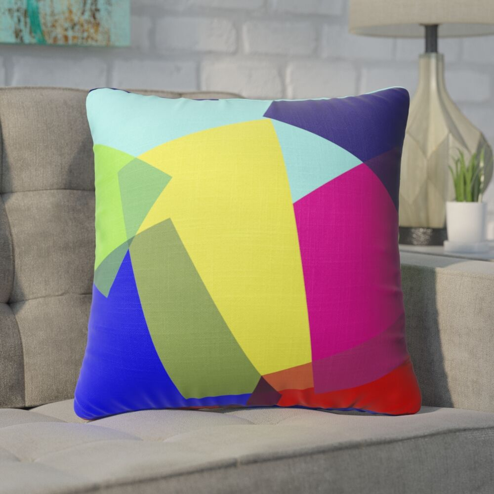 Fiala Blocks Accent Throw Pillow Size: 16