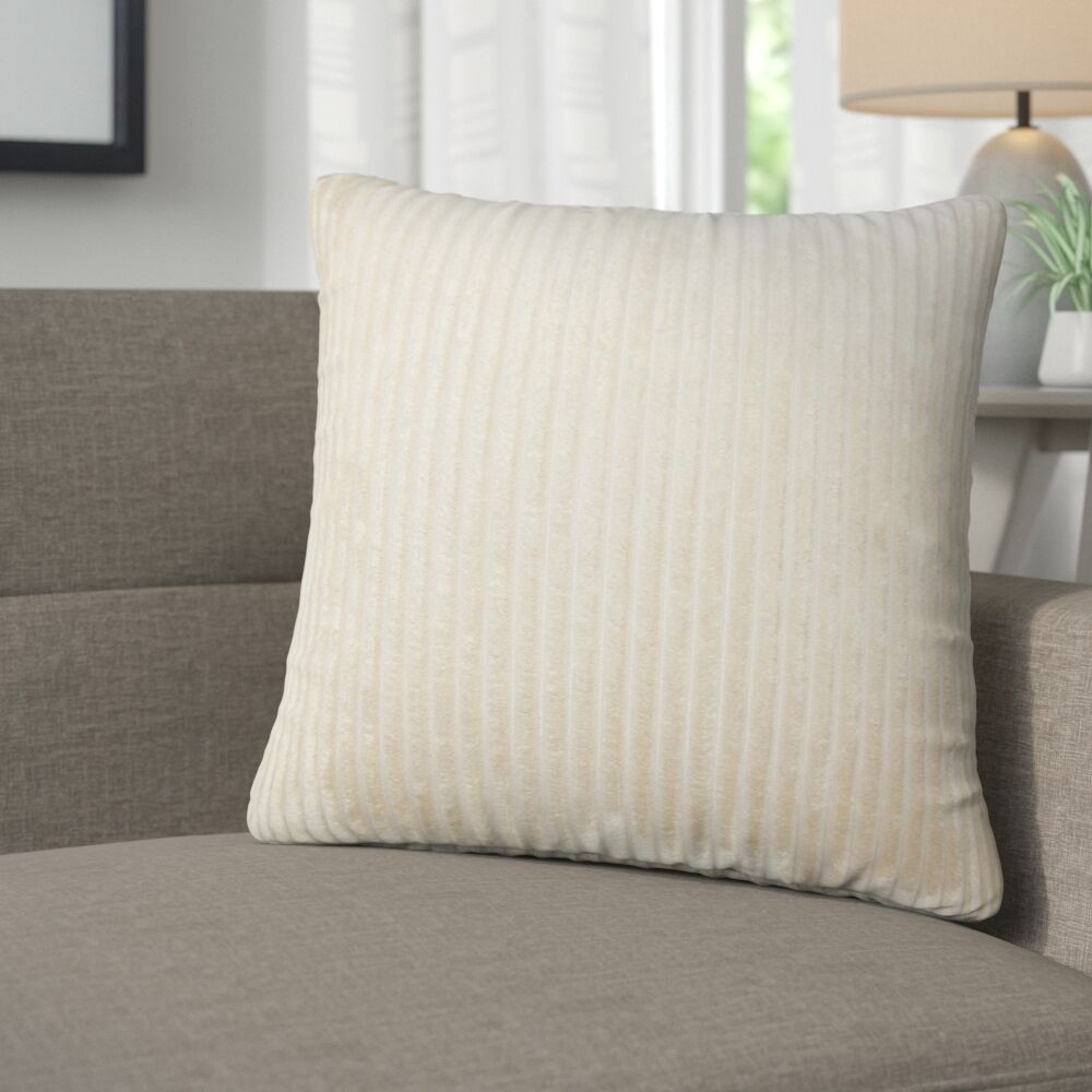 Galilea Solid Throw Pillow Color: Tan