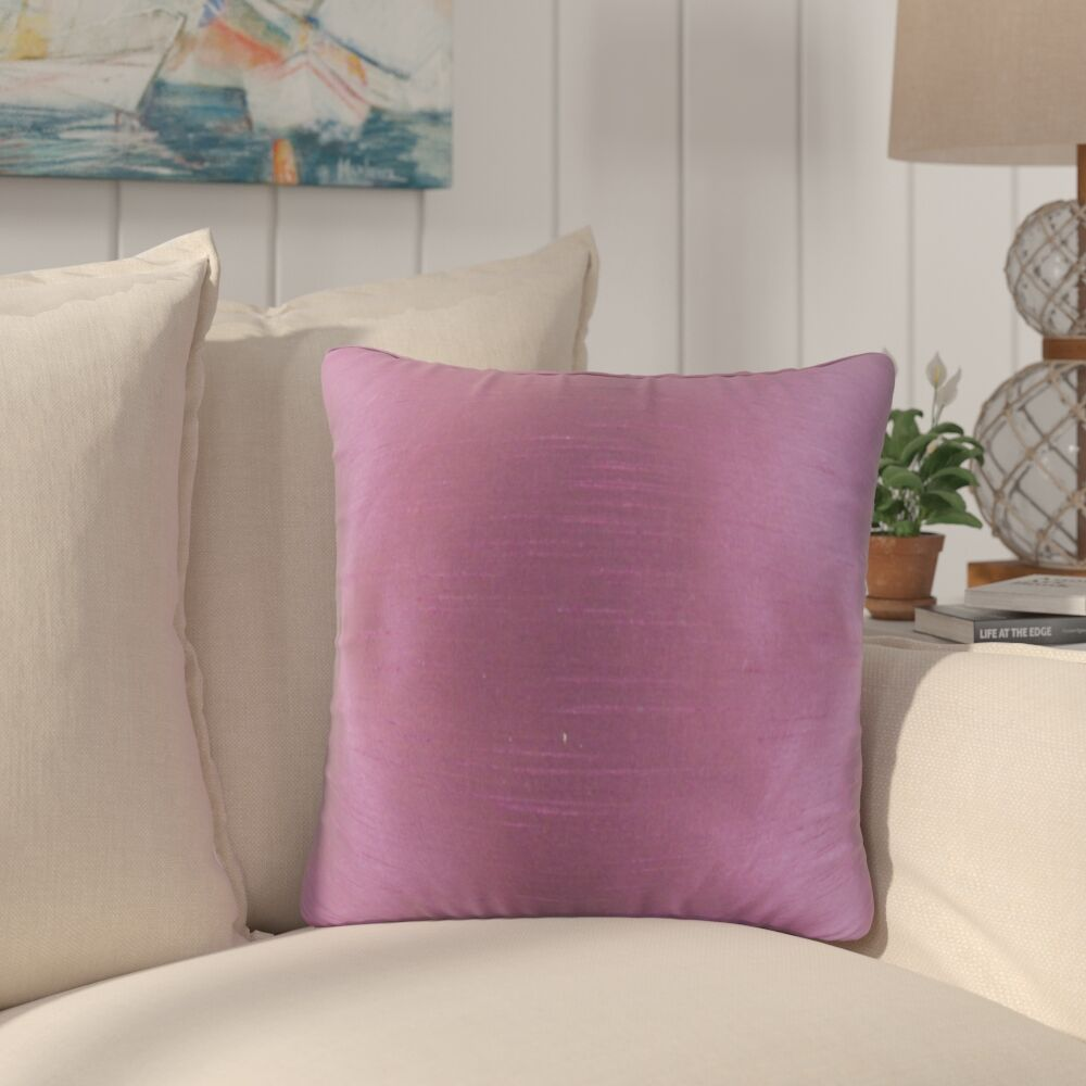 Popinac Solid Throw Pillow Color: Purple
