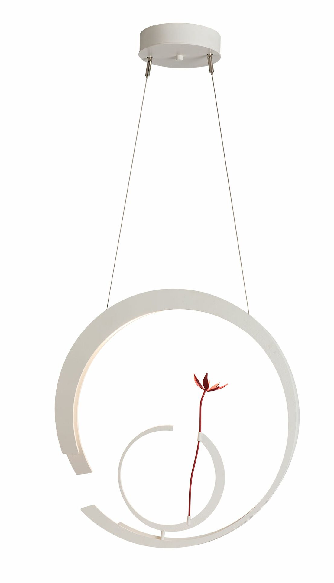 Pendarvis 1-Light  LED  Pendant Base Finish: Satin White, Finish: Satin White