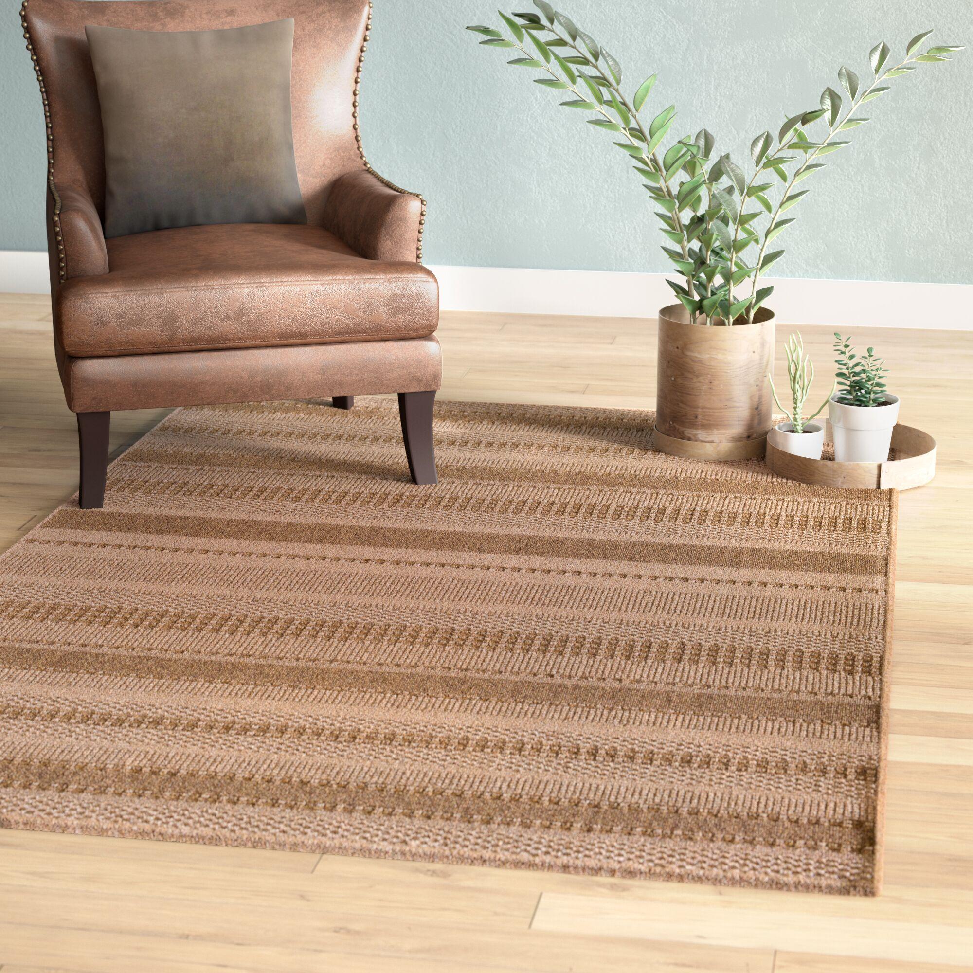 Annica Large Stripe Beige Indoor/Outdoor Area Rug Rug Size: 6'7