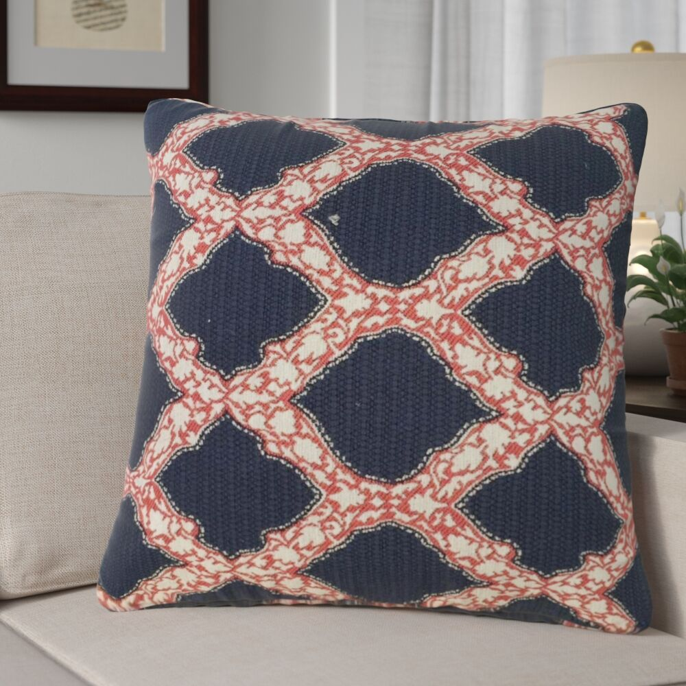 Alcera Geometric Down Filled 100% Cotton Throw Pillow Size: 22