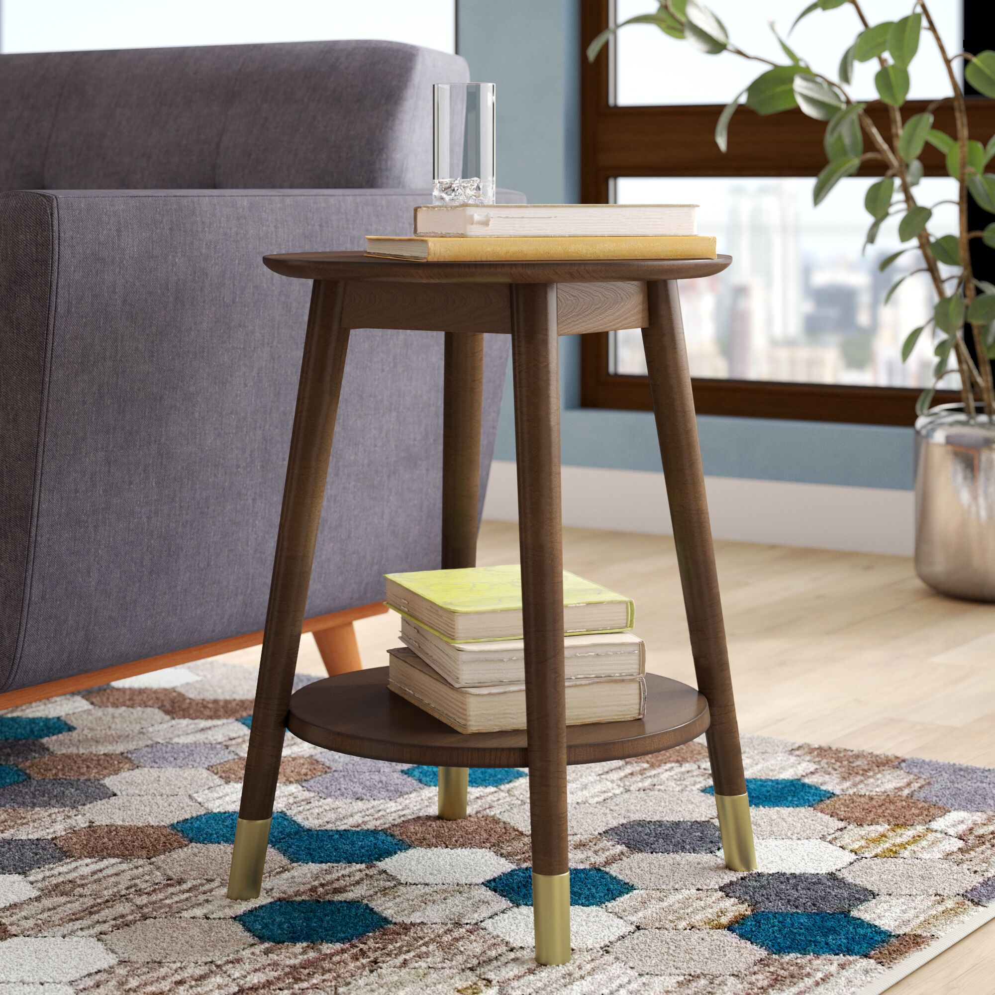 Boese End Table Color: Espresso