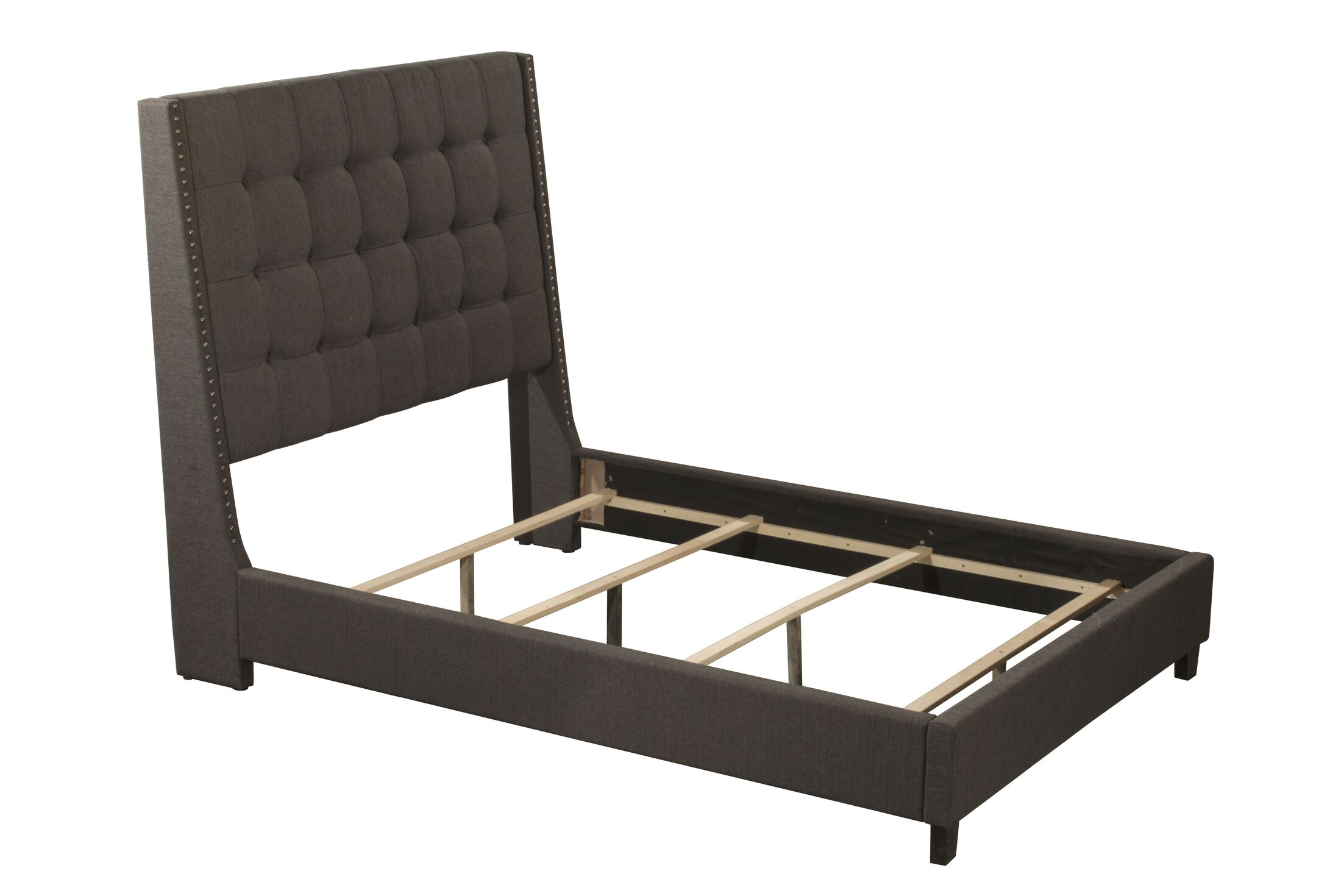 Overbay Linen Upholstered Panel Bed Size: Queen