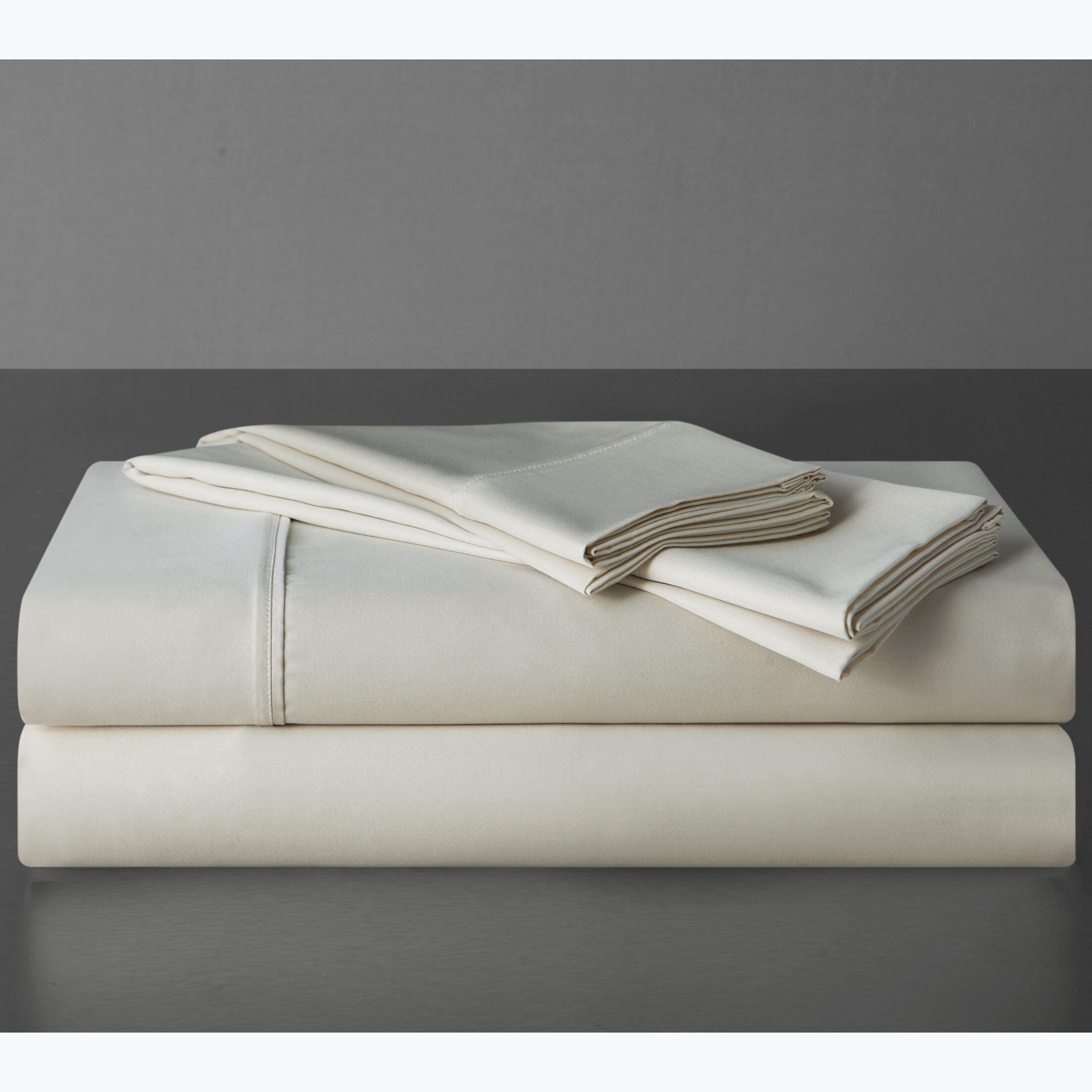 Sullivan 400 Thread Count 100% Cotton Sheet Set Color: Ecru, Size: Queen