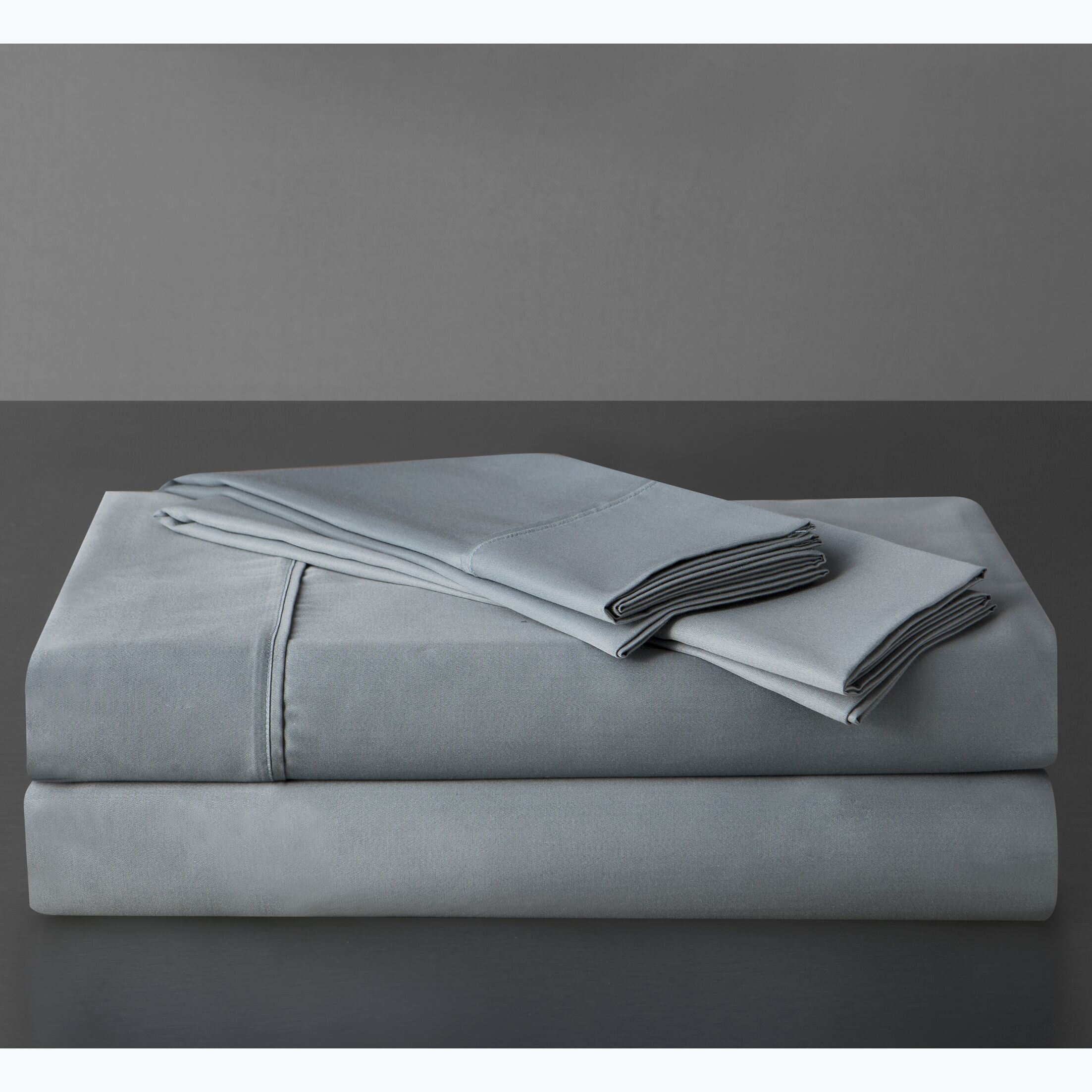 Sullivan 400 Thread Count 100% Cotton Sheet Set Size: California King, Color: Mineral