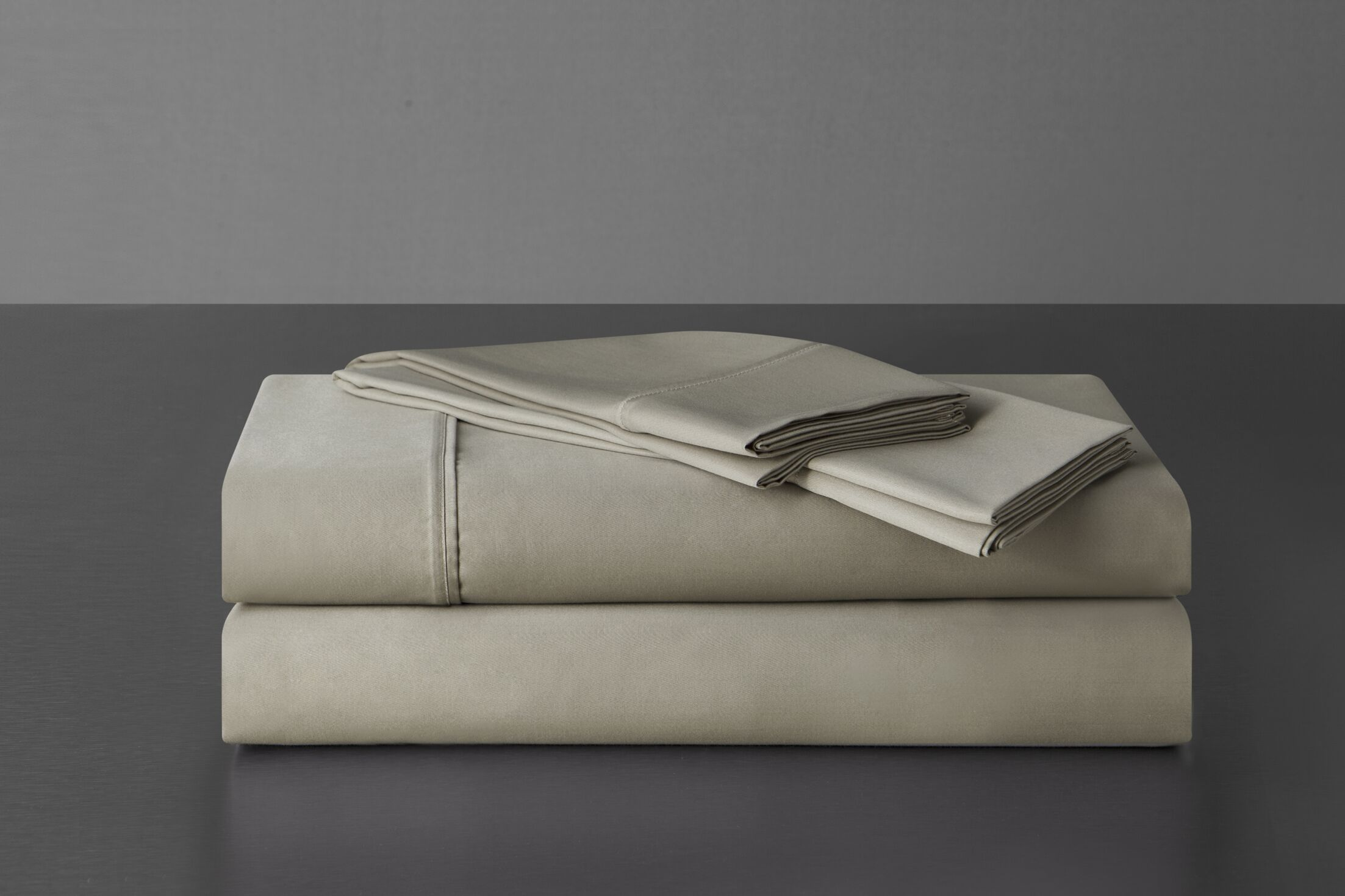 Sullivan 400 Thread Count 100% Cotton Sheet Set Size: Queen, Color: Taupe