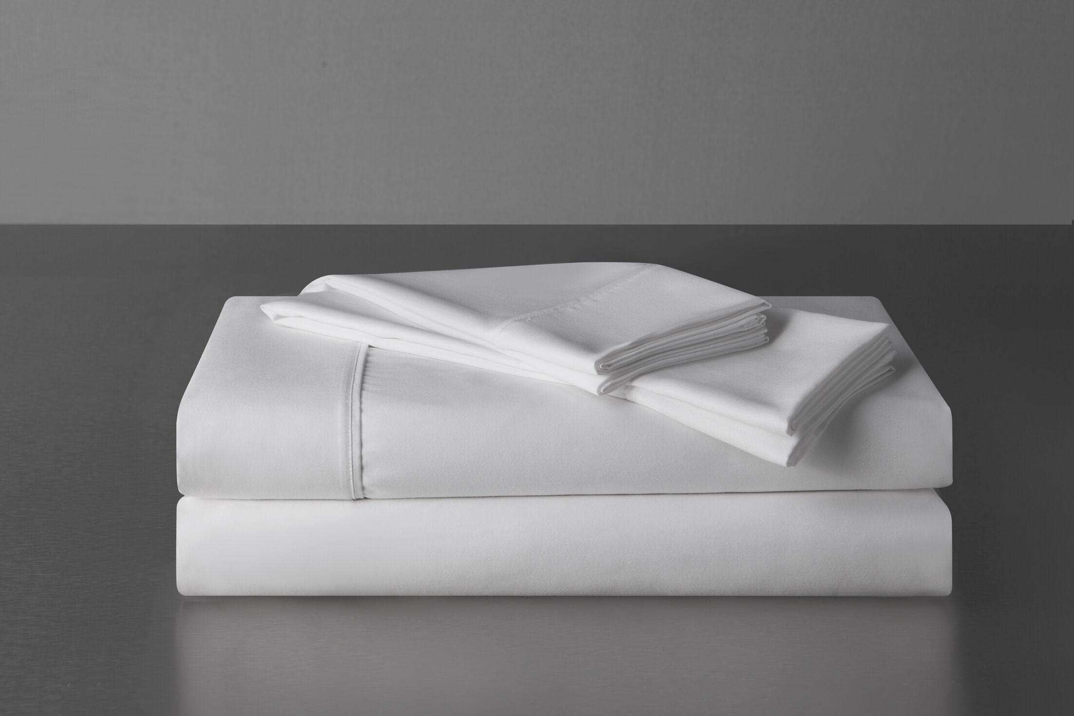 Sullivan 400 Thread Count 100% Cotton Sheet Set Size: California King, Color: White