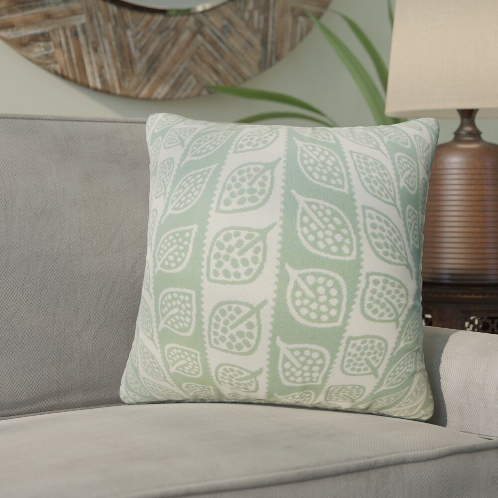 Graysen Foliage Throw Pillow Color: Light Green