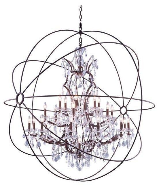 Oldene 20-Light Globe Chandelier Finish: Rustic Iron