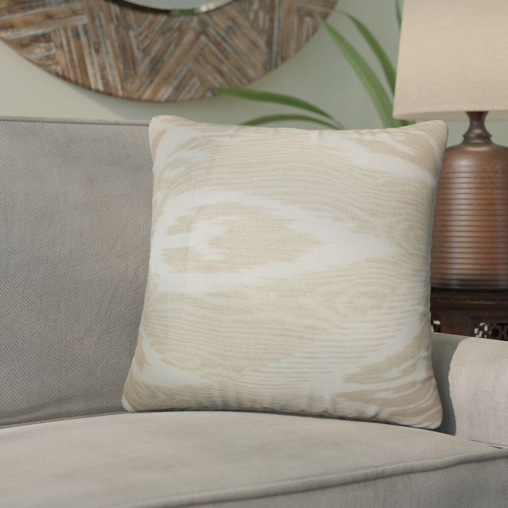 Delano Ikat Linen Throw Pillow Color: Sandstone, Size: 20