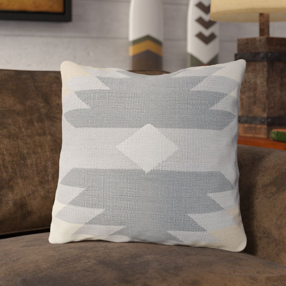Todd 100% Cotton Throw Pillow Size: 18