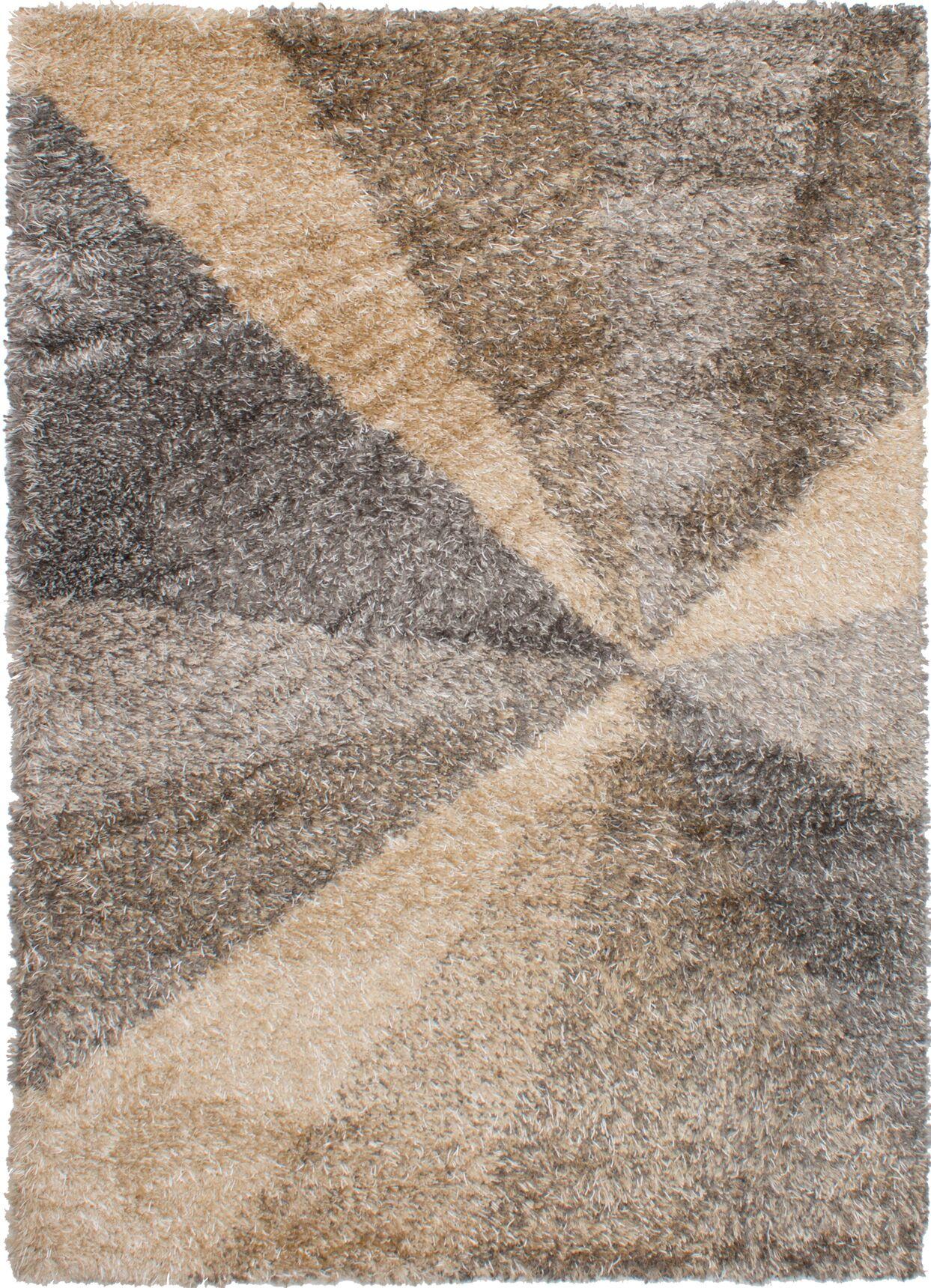 Maclennan Beige/Dark Gray Area Rug