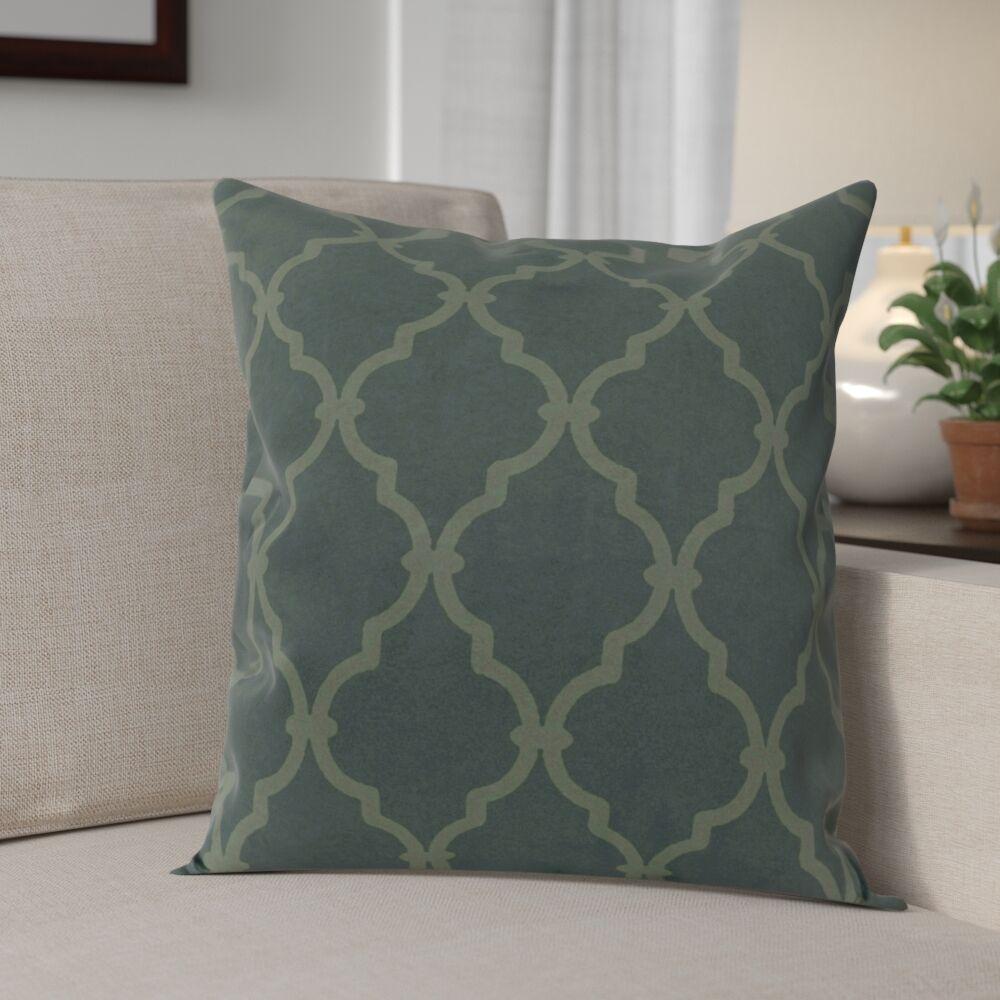 Reuter Trellis Throw Pillow Size: 18