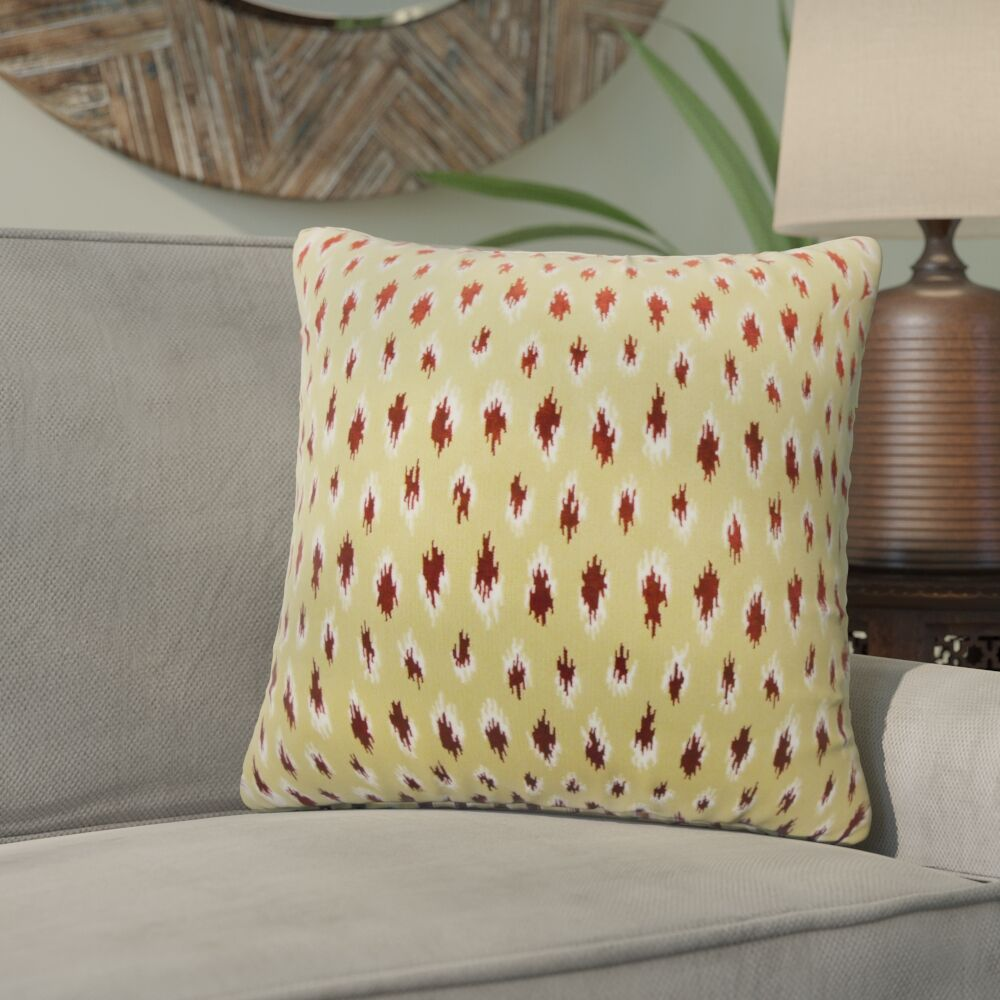 Upland Ikat Down Filled Throw Pillow Size: 24