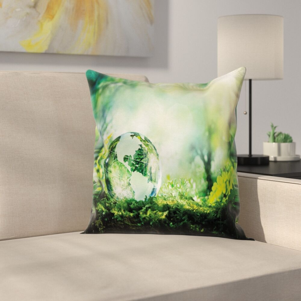 Globe Pillow Cover Size: 20