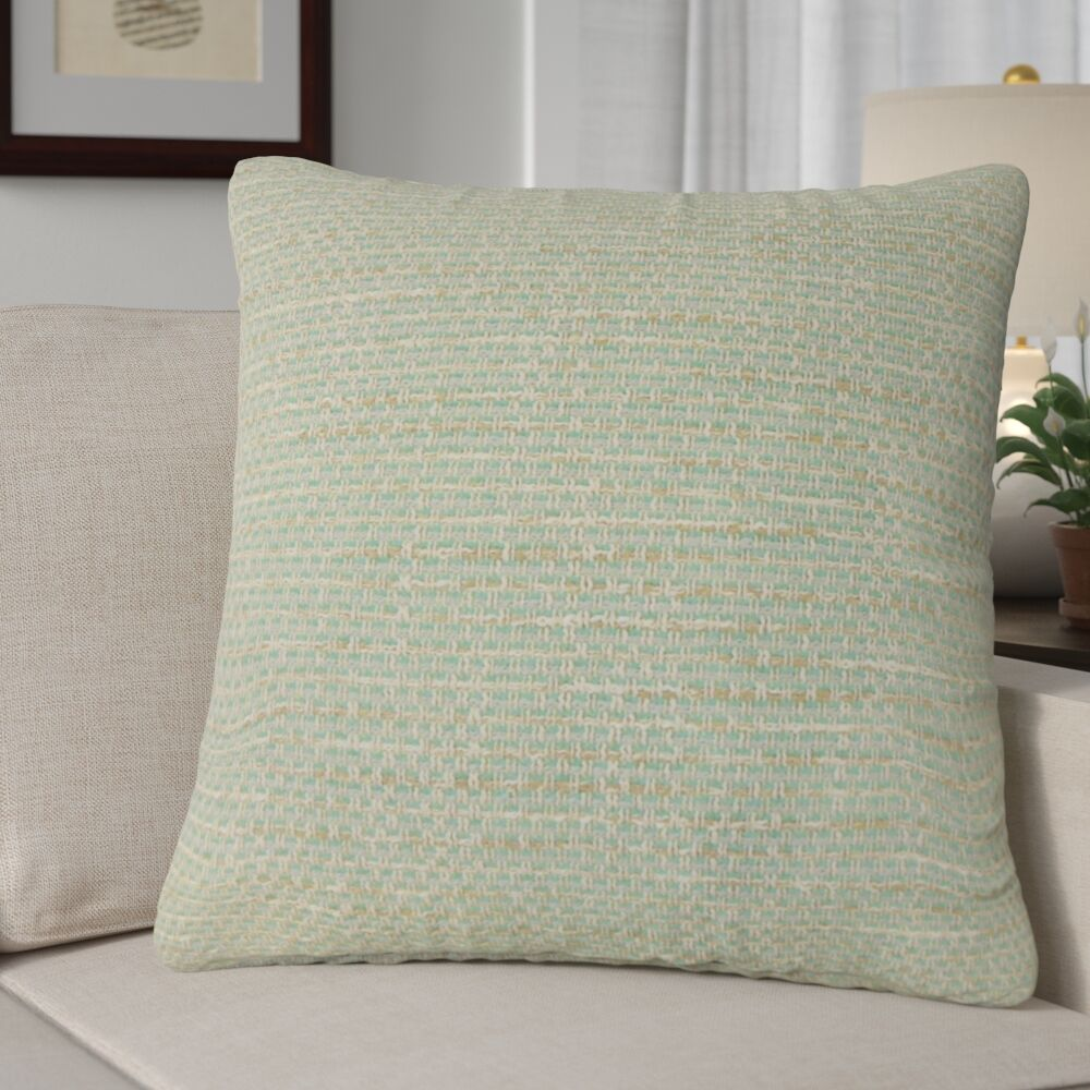 Ectasia Solid Down Filled 100% Cotton Throw Pillow Size: 24