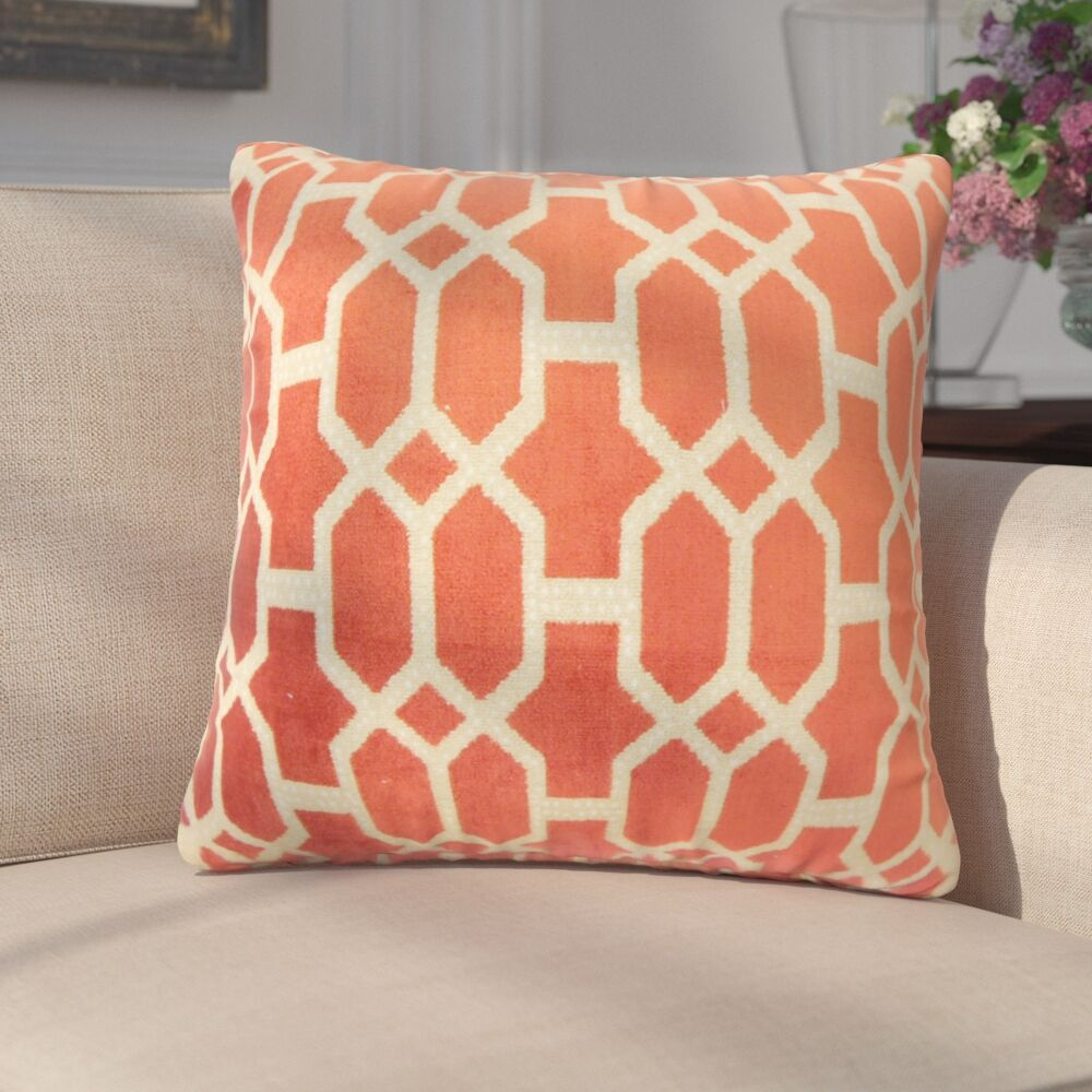 Pepper Geometric Down Filled Throw Pillow Size: 20