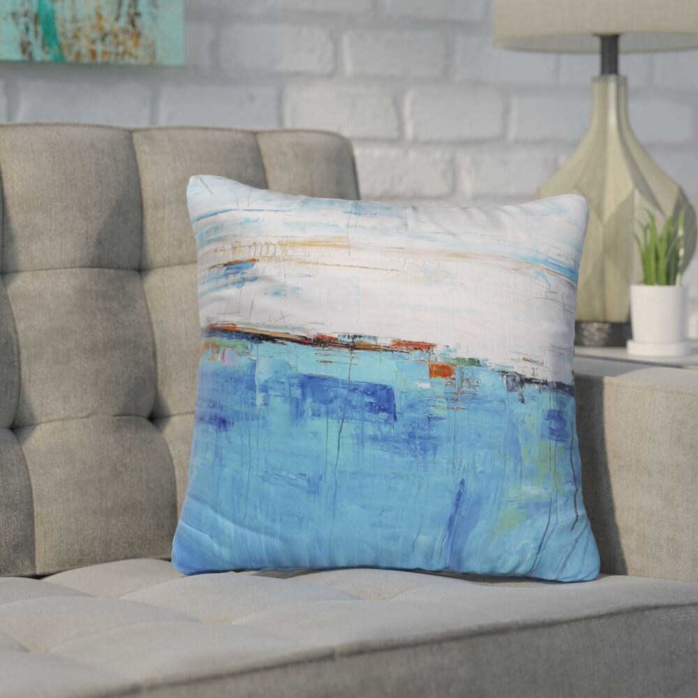 Franco Blue Sea Indoor/Outdoor Throw Pillow Size: 26