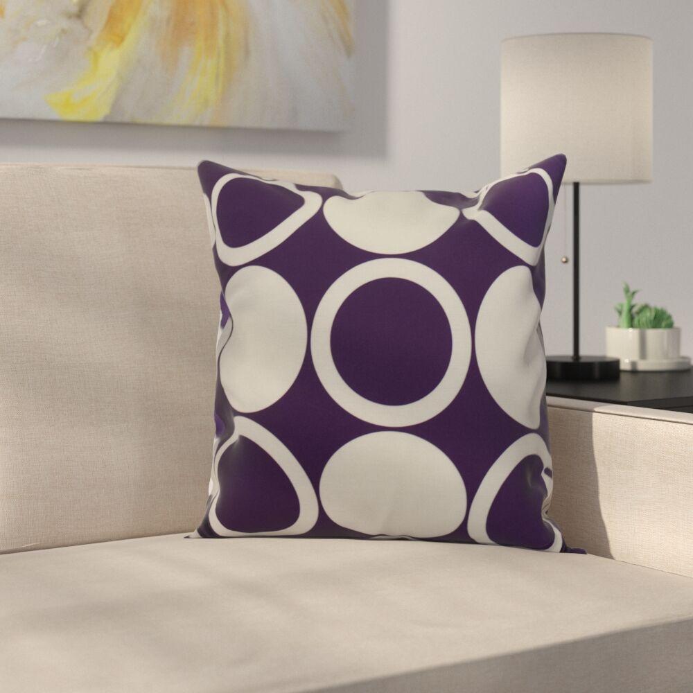 Memmott Mod Circles Throw Pillow Color: Purple, Size: 20