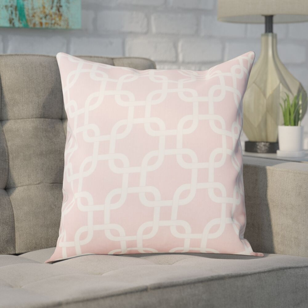 Sessums 100% Cotton Throw Pillow Color: Baby Pink, Size: 18