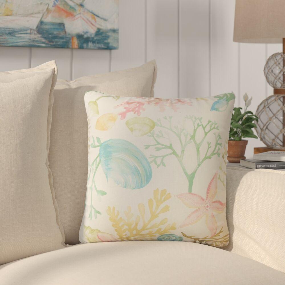 Taifa Coastal Cotton Throw Pillow