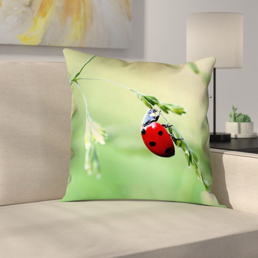 Duriel Double Sided Print Zipper Square Pillow Cover Size: 16