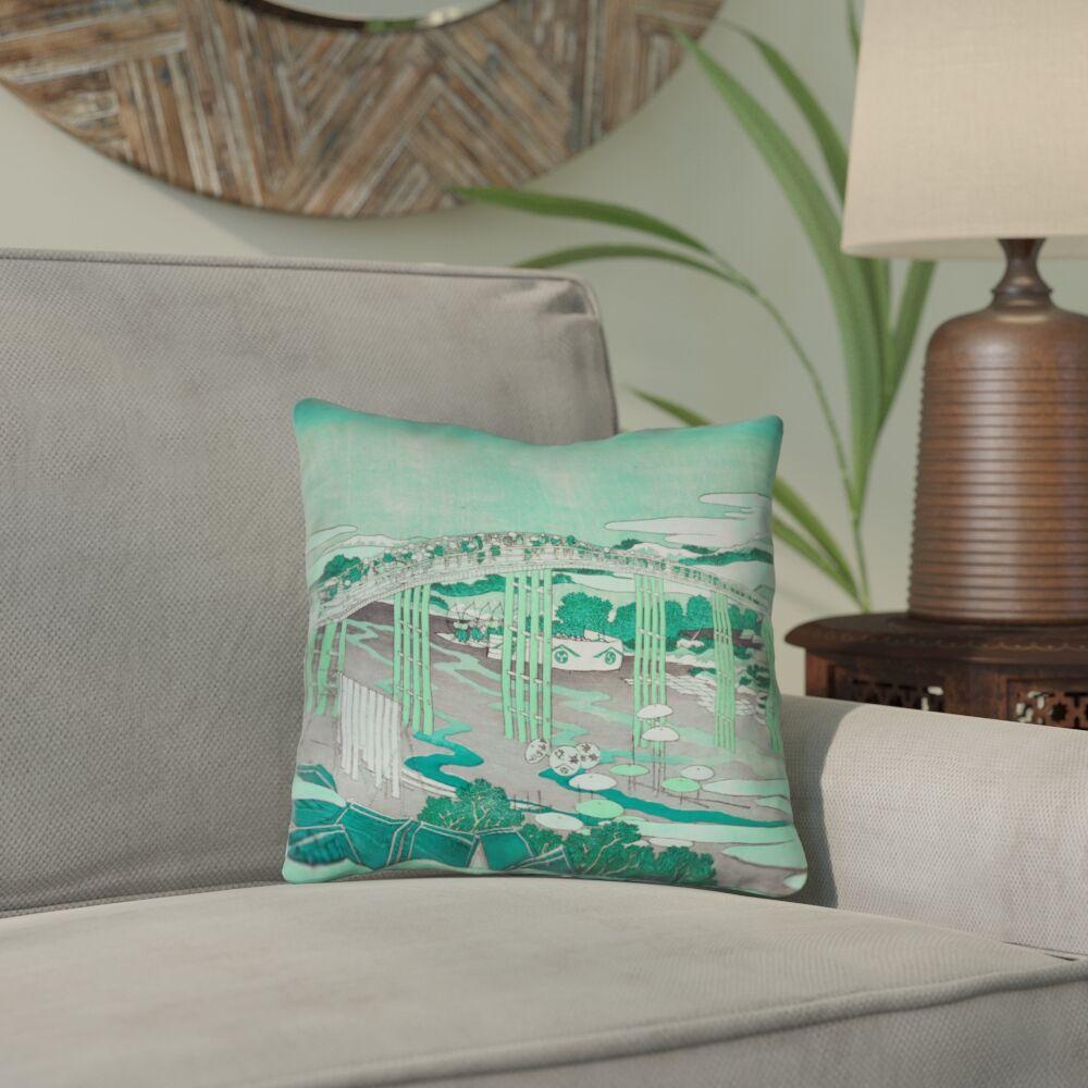 Clair Japanese Bridge Throw Pillow Size: 20