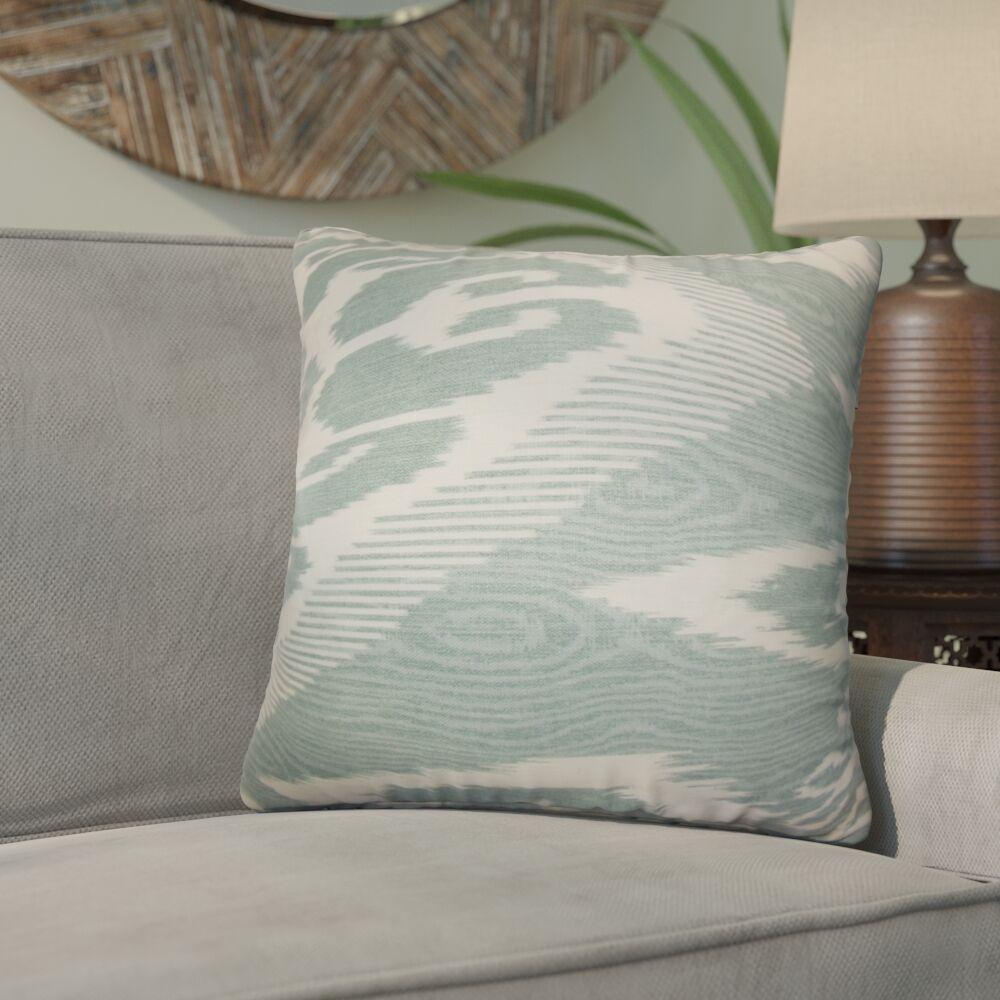Delano Ikat Linen Throw Pillow Color: Artemesia, Size: 22