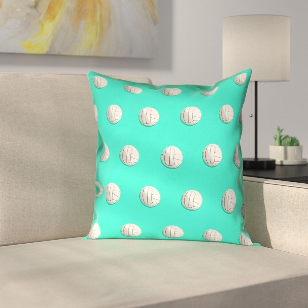 Volleyball Pillow Cover Size: 26