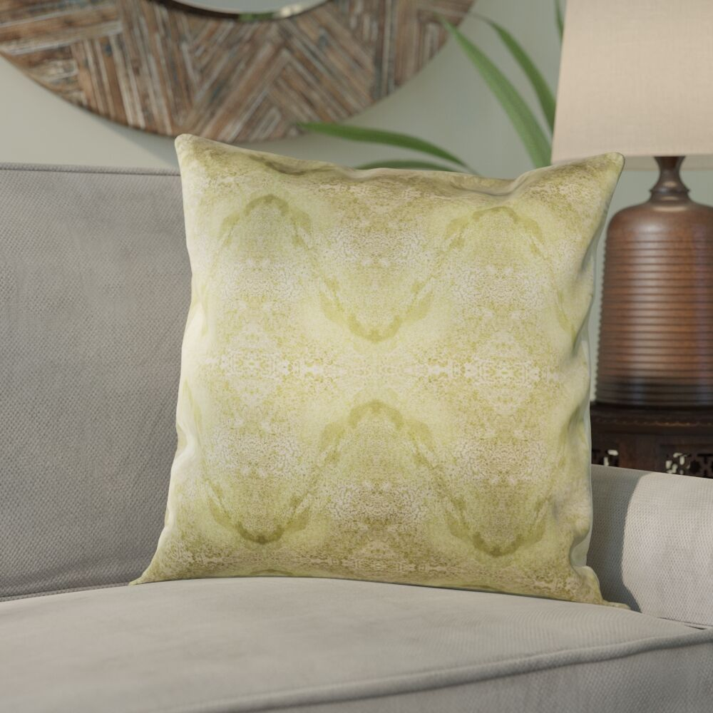 Antram Silk Pillow Cover Color: Neutral/Green, Size: 22