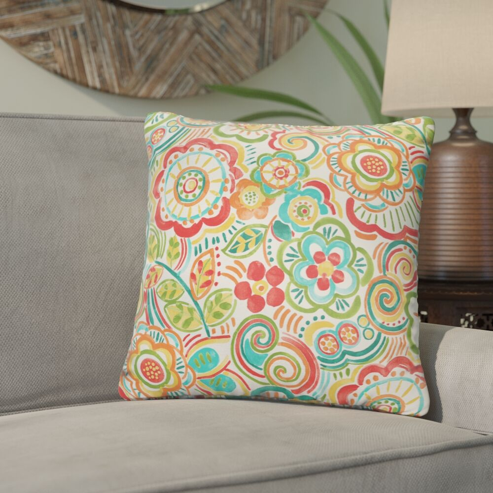 Lucie Outdoor Throw Pillow Size: 22