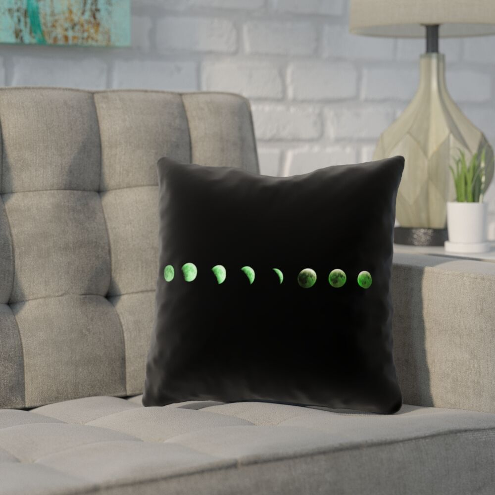 Enciso Moon Phases Square Pillow Cover Size: 26
