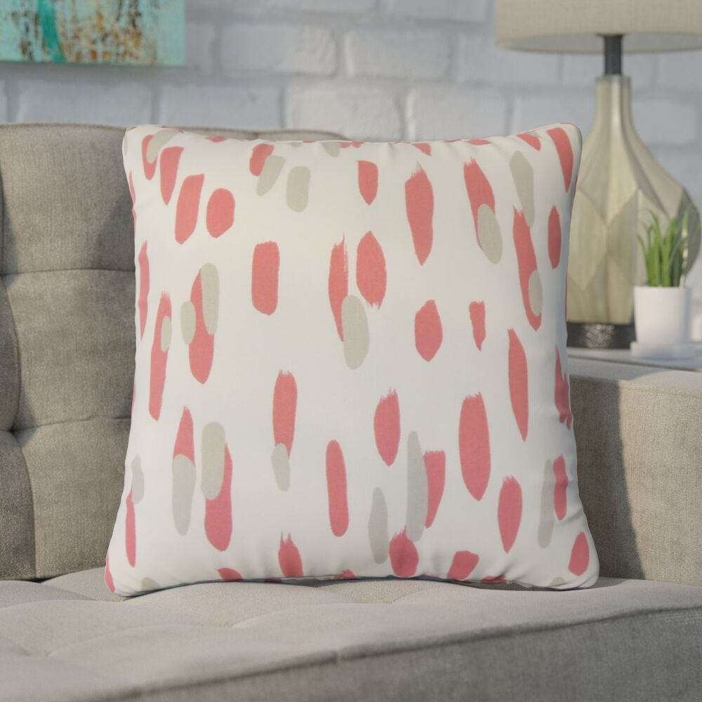 Northcutt Graphic Cotton Throw Pillow Color: Red
