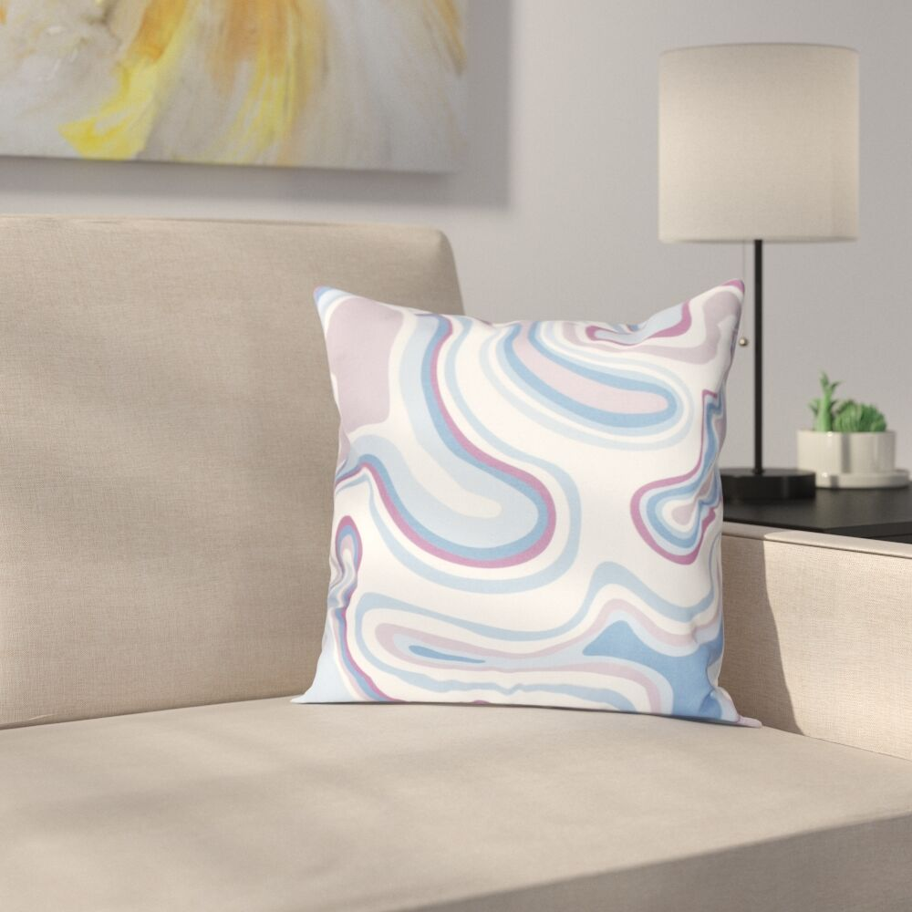 Buenrostro Agate Geometric Throw Pillow Size: 16
