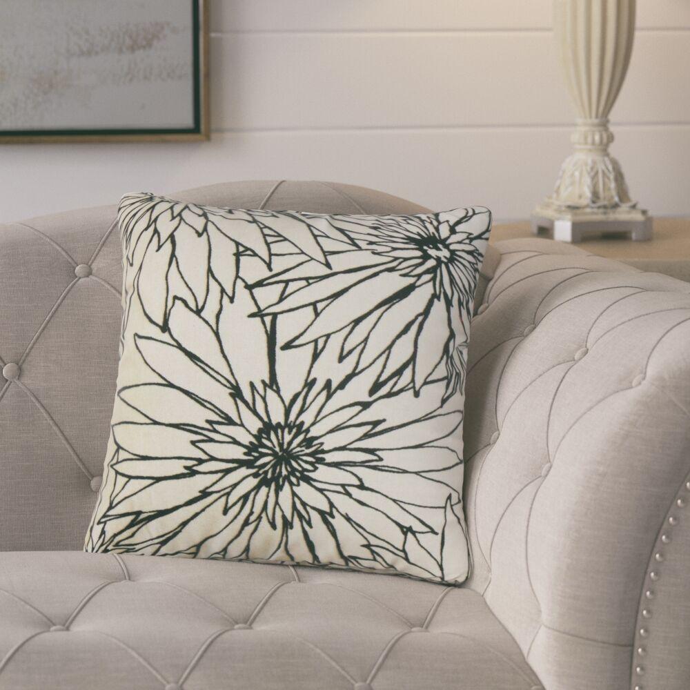 Loera Floral Cotton Throw Pillow