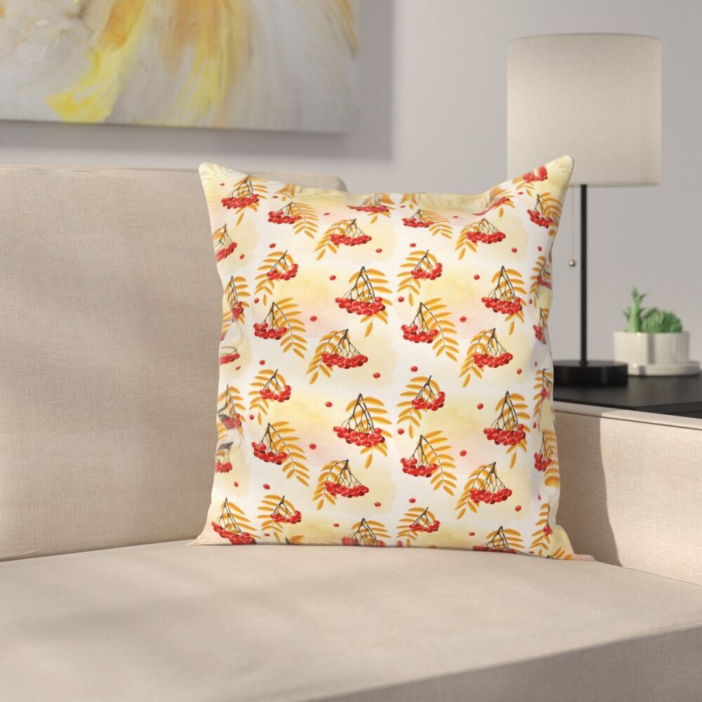 Romantic Fall Season Tile Square Pillow Cover Size: 20