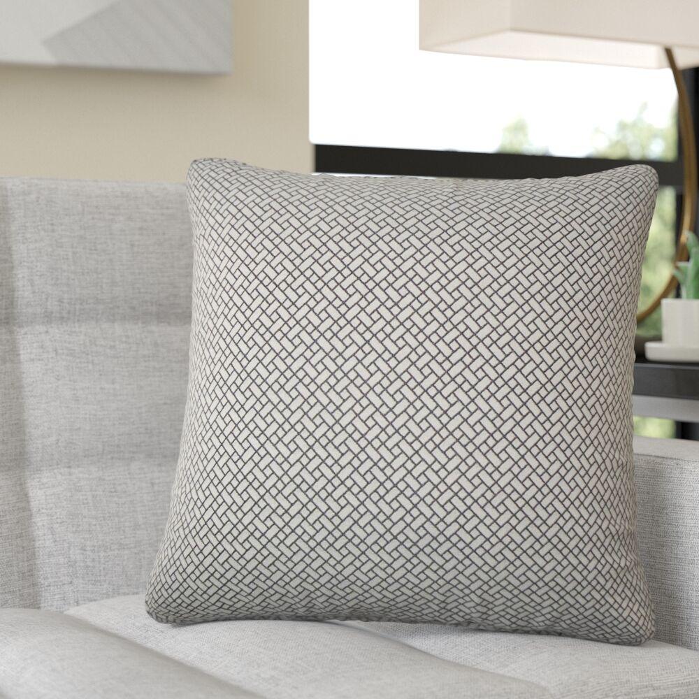 Reeser Geometric Throw Pillow Color: Black