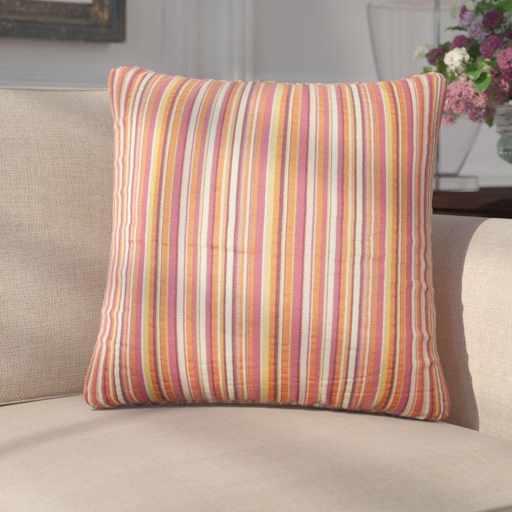 Filomena Striped Cotton Throw Pillow