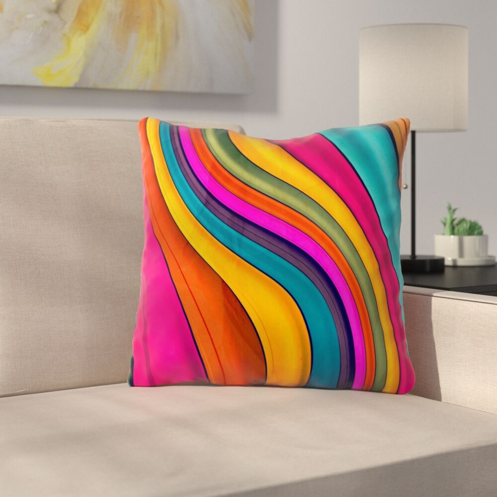 Lov Color by Danny Ivan Throw Pillow Size: 16