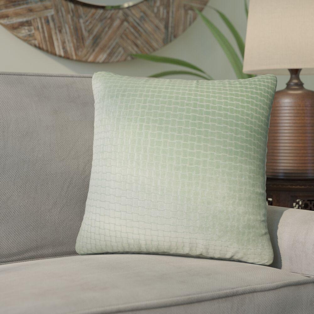 Karen Solid Throw Pillow Color: Seafoam
