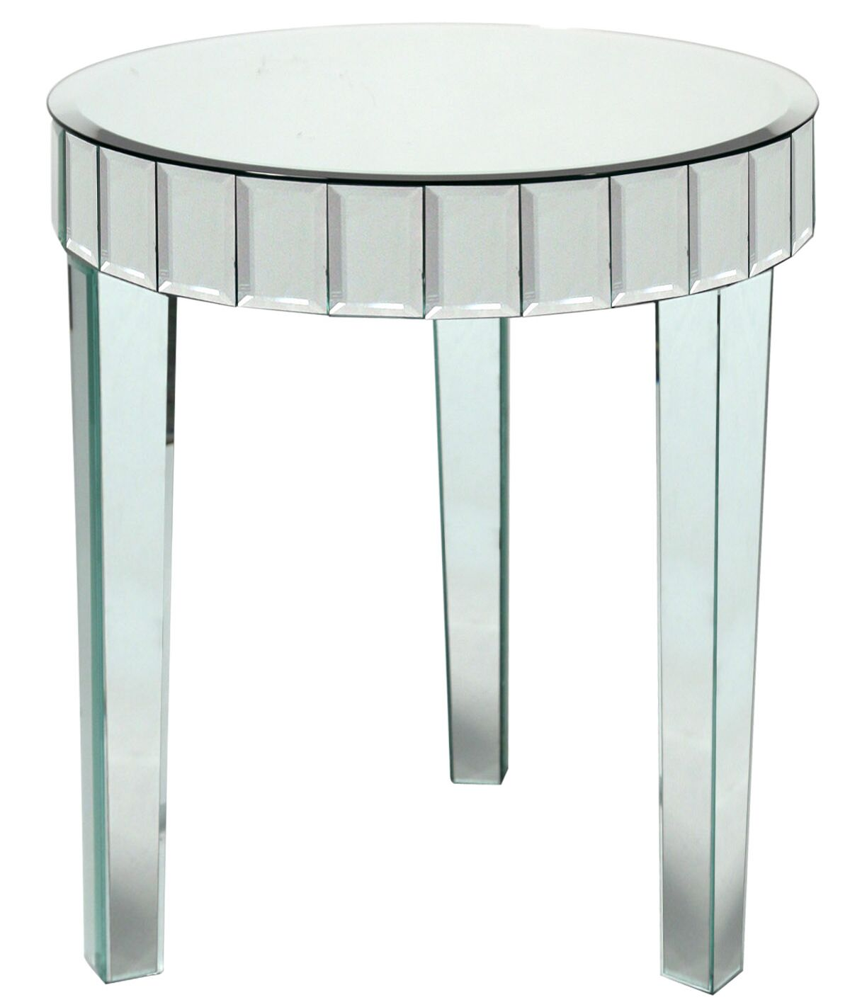 Mcfee Beveled Mirror End Table