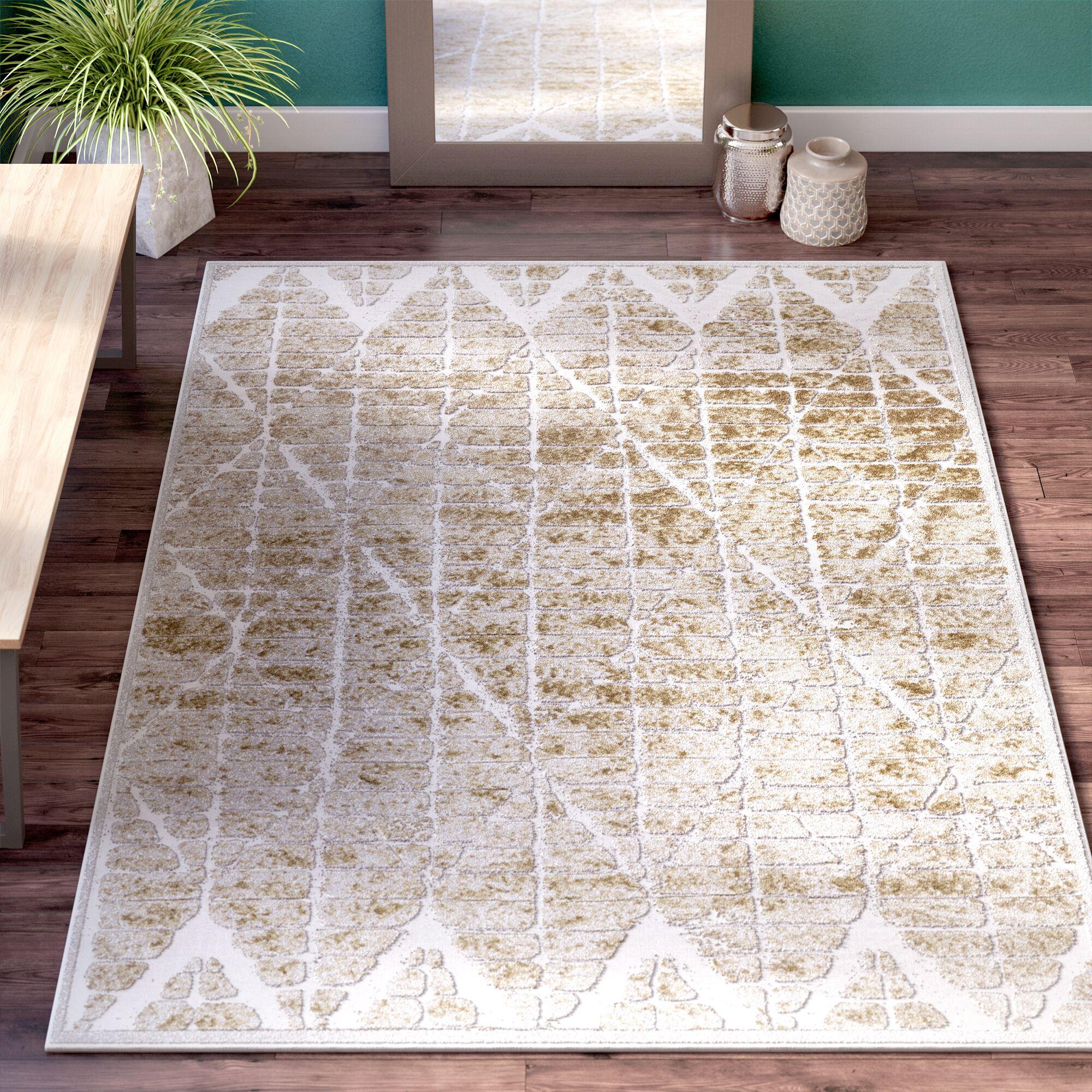 Dolezal Brown/White Area Rug Rug Size: Rectangle 5'3