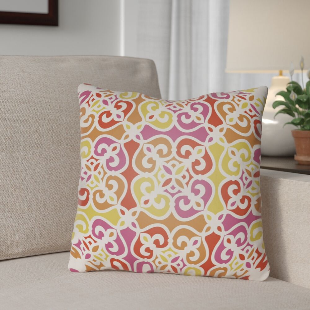 Alfredson Indoor/Outdoor Throw Pillow Color: Orange, Size: 26