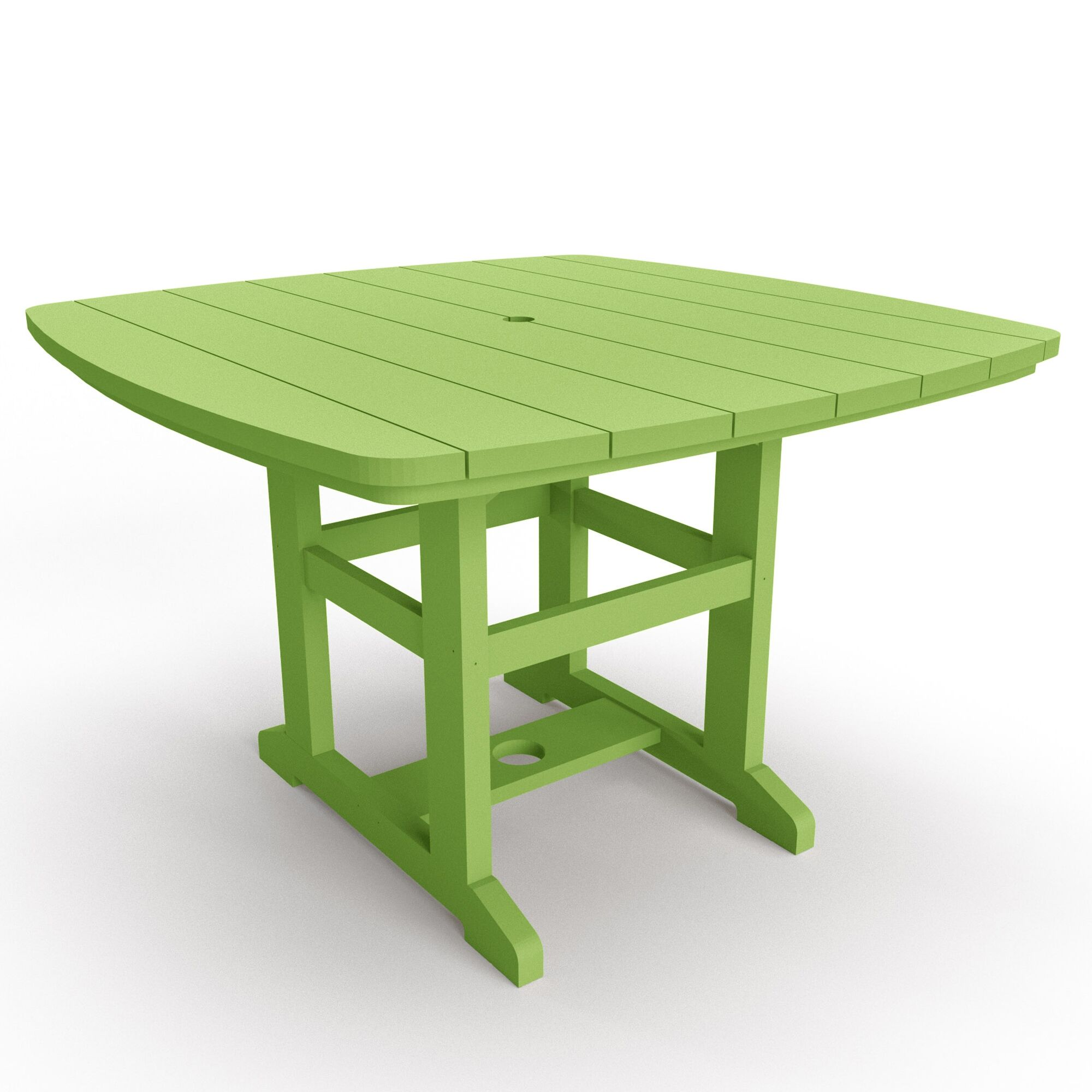 Duran Plastic/Acrylic Dining Table Color: Lime