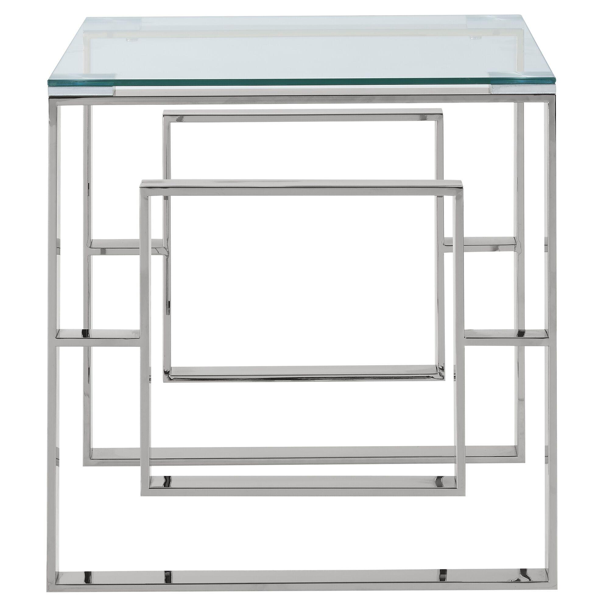 Melendez Stainless Steel End Table Color: Chrome